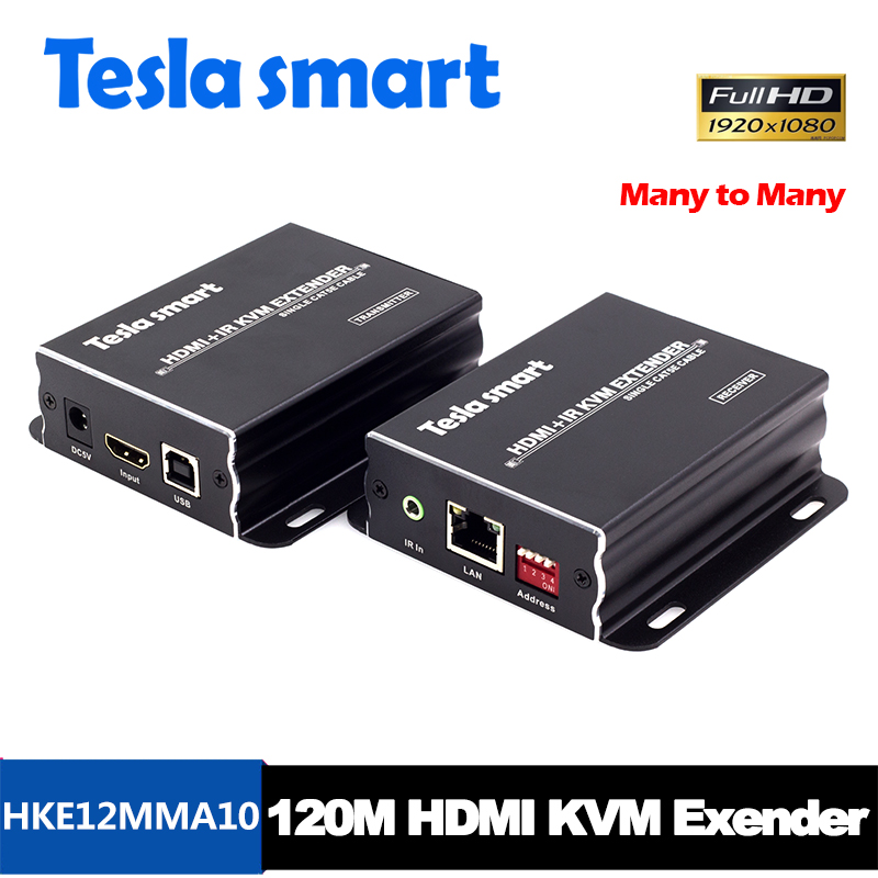 120M HDMI KVM Many to Many Over IP Extender w/ IR