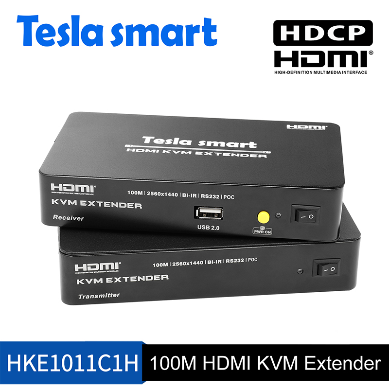 100M HDMI KVM Extender w/IR and audio out