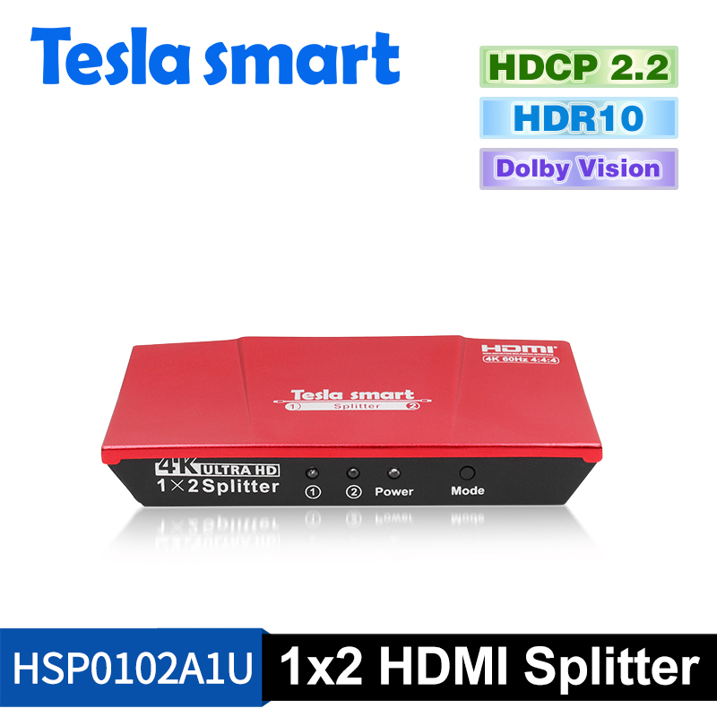 1x2 HDMI Splitter 4K@60Hz 4:4:4