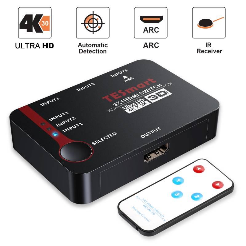 3x1 HDMI Switch with IR