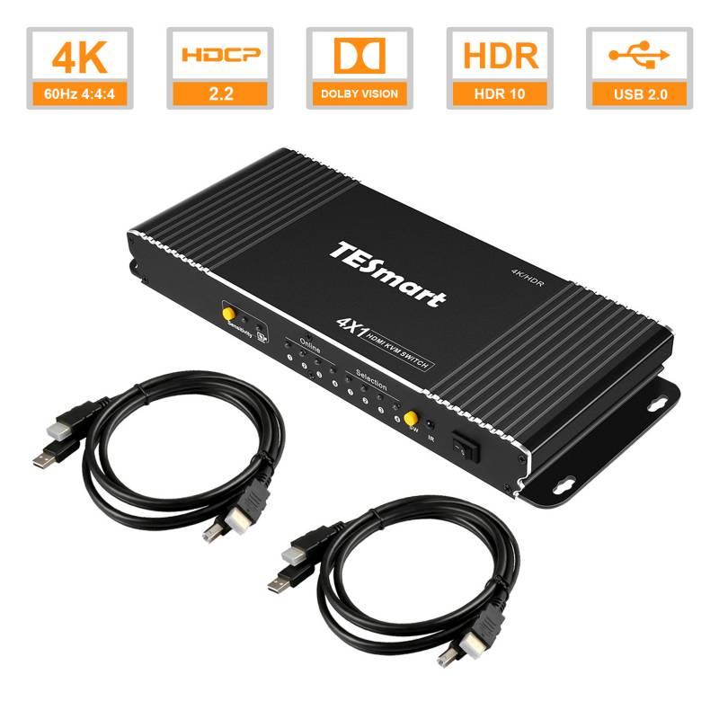 4X1 HDMI KVM Switch 4K@60Hz