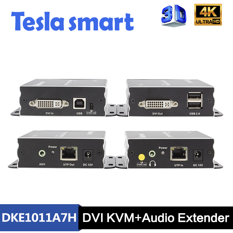 100M DVI KVM+Audio Extender