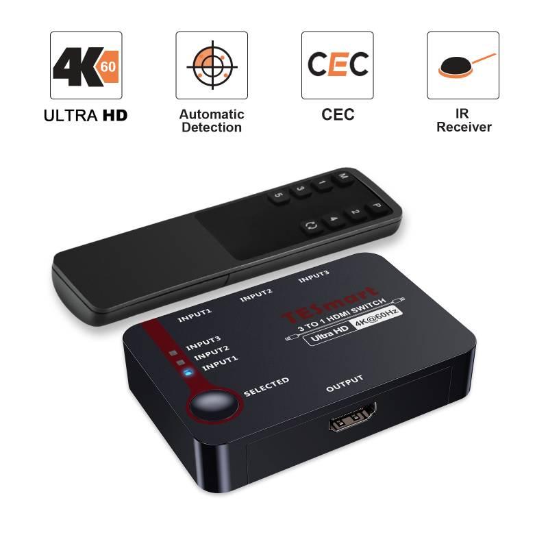 3x1 HDMI Switch 4K@60Hz 4:4:4
