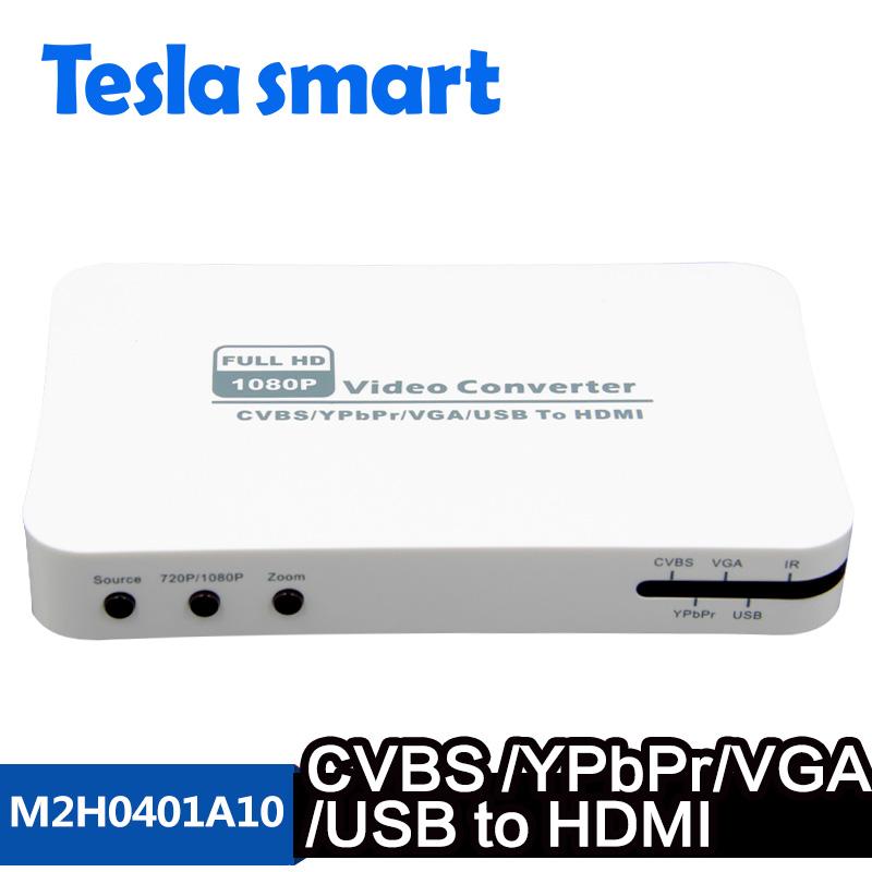 CVBS/YPbPr/VGA/USB to HDMI Converter