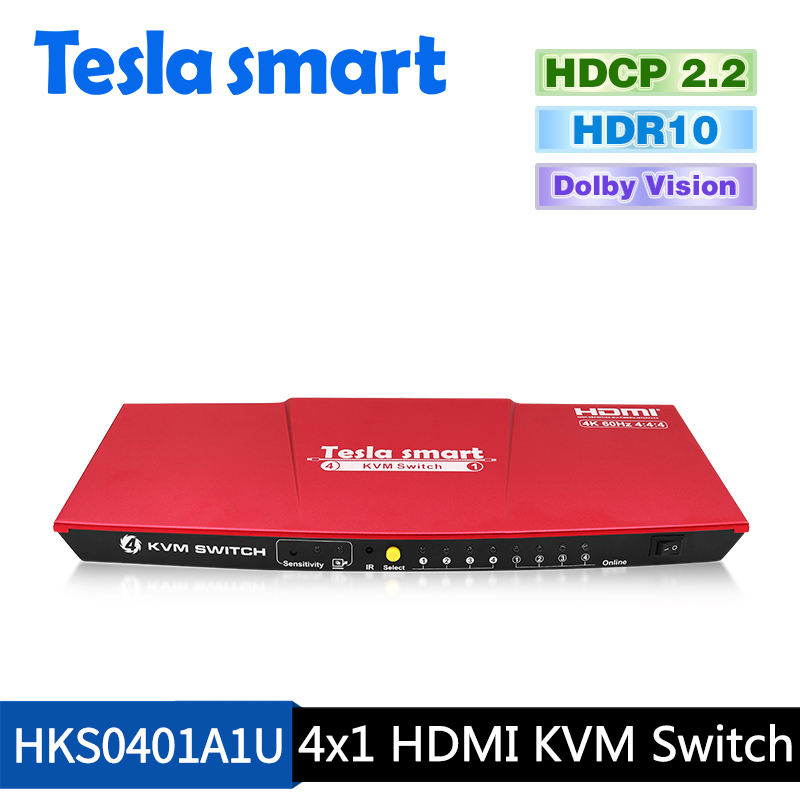 4x1 HDMI KVM Switch 4K@60Hz