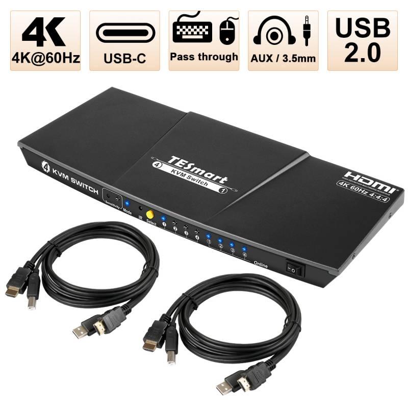 4x1 HDMI KVM Switch(Type-C)