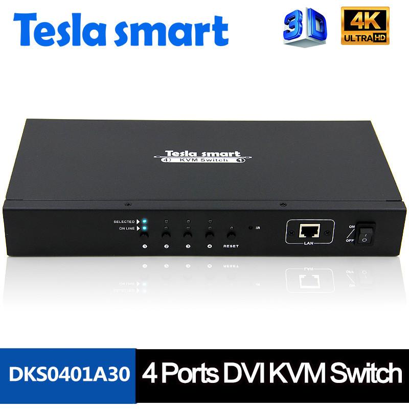 4x1 DVI KVM Switcher