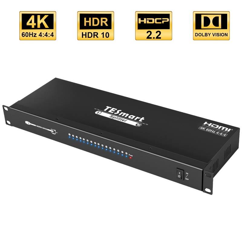 1x16 HDMI Splitter  4K@60Hz 4:4:4